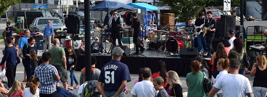Live bands performing.